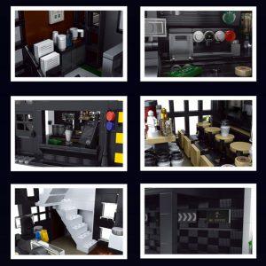 Mouldking 16036 Moc 45635 Starbucks Modern Cafe Shop 3