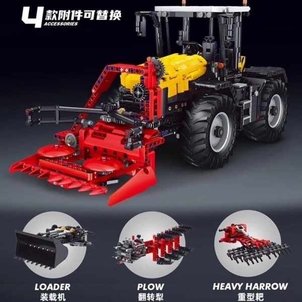 Mouldking 17019 Tractor Fastrac 4000er Series With Rc 2