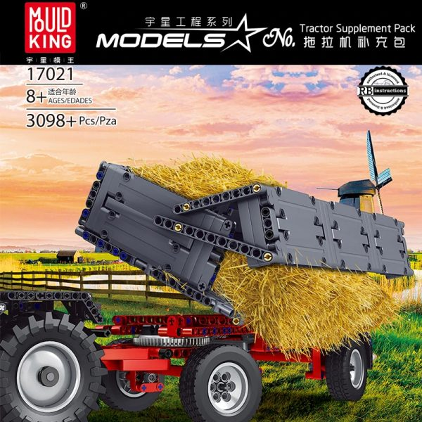 Mouldking 17021 Tractor Supplement Pack Fastrac 4000er Series With Rc 4