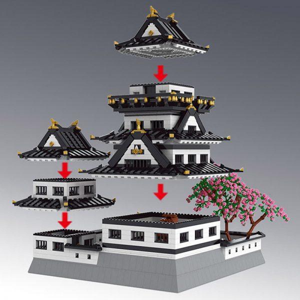 Mouldking 22006 Ustar Nazuki Himeji Castle 4