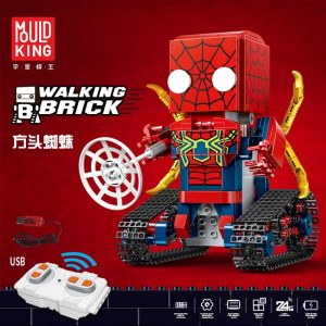 Marvel Lepins Iron Man Spiderman Superman Super Heros Walking Bricks Remote Controlled Figurines Technic Blocks Motor 1