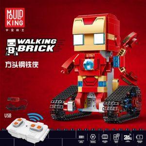 Marvel Lepins Iron Man Spiderman Superman Super Heros Walking Bricks Remote Controlled Figurines Technic Blocks Motor 4