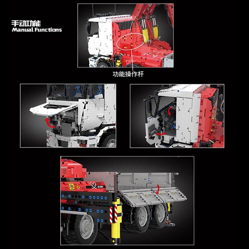 MOULD KING 19002 Pneumatic Crane Truck