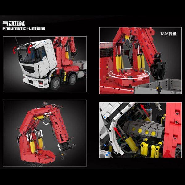 Technic Mouldking 19002 Pneumatic Crane Truck 4