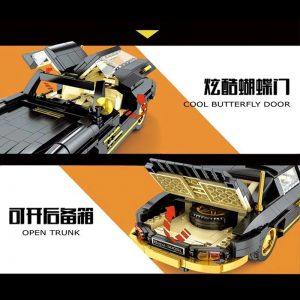 Mould King Car The Moc 22930 300sl Gullwing Building Blocks Bricks Car Model Kids Educational Toys (3)