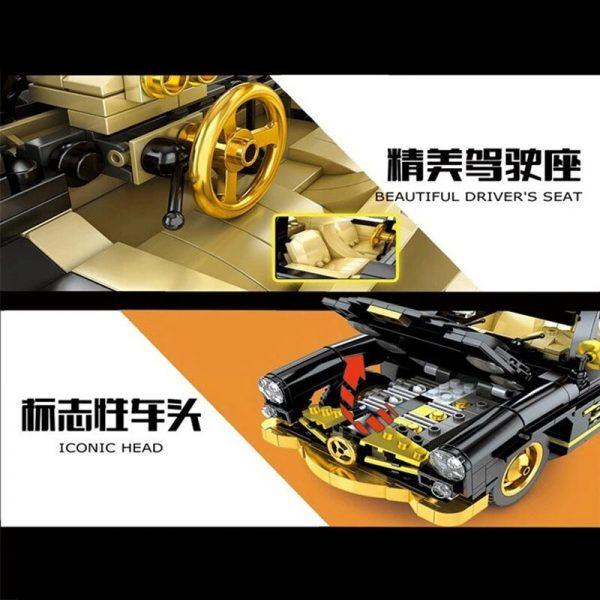 Mould King Car The Moc 22930 300sl Gullwing Building Blocks Bricks Car Model Kids Educational Toys (4)