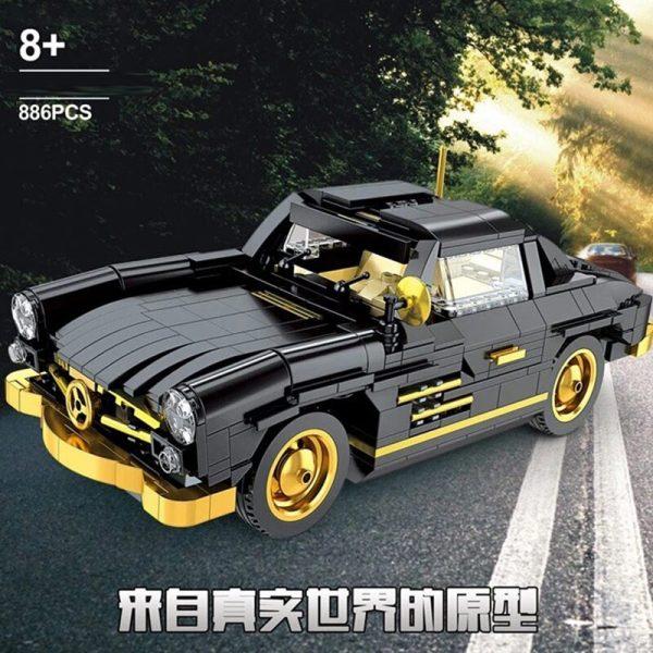 Mould King Car The Moc 22930 300sl Gullwing Building Blocks Bricks Car Model Kids Educational Toys