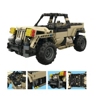Mould King Technic Series 13013 495pcs Armored Union Military Pickup Truck Building Blocks Brick Kids Toys (2)