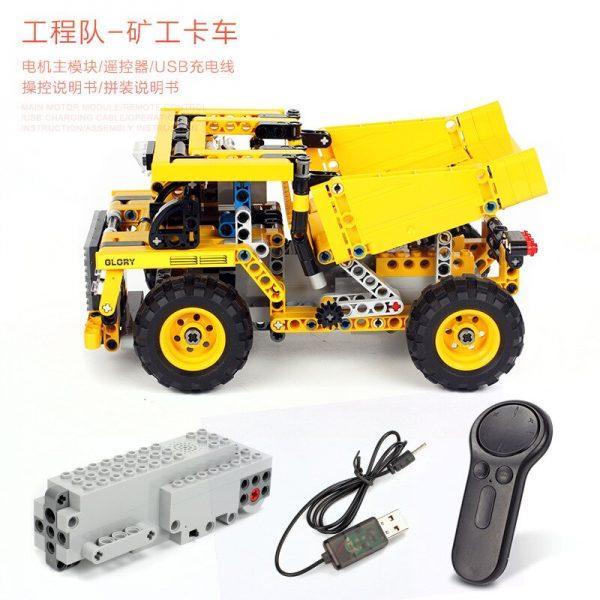 Mould King Technic Series Moc 13016 552pcs Mining Truck Electric Remote Control Building Blocks Brick Kids (2)