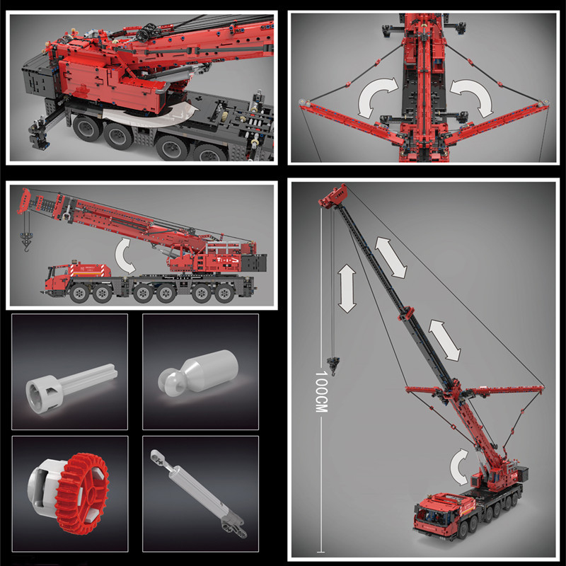Mouldking 17013 Grove Mobile Crane With Rc 4 (1)