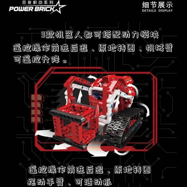 MOULD KING 15048 Power Brick Vector 3 in 1