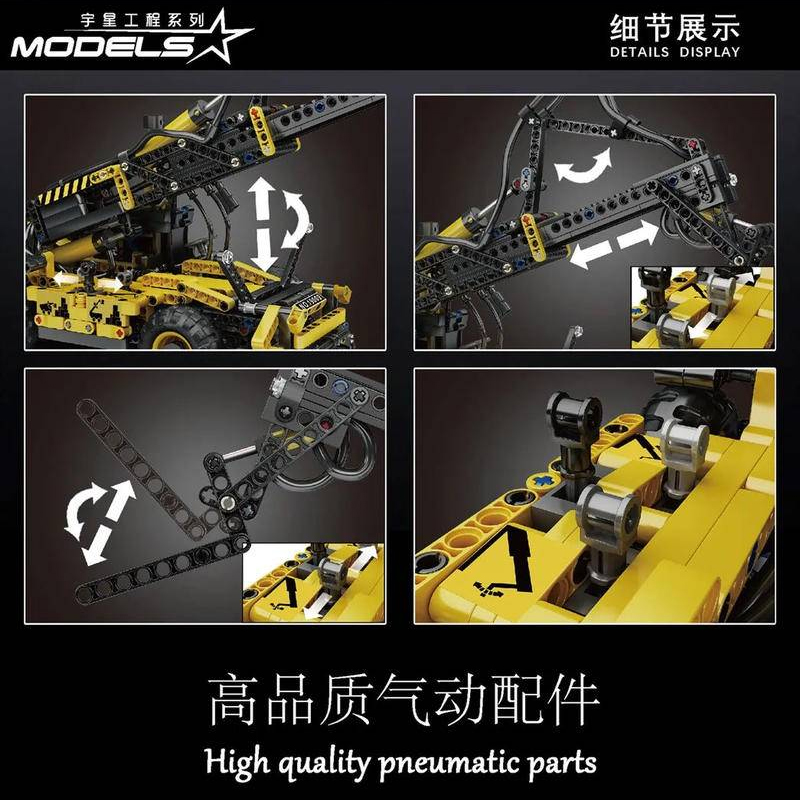 MOULD KING 19009 Pneumatic Telescopic Forklift