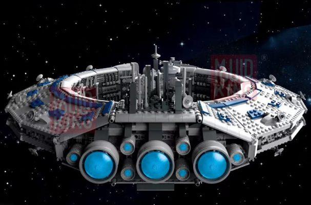 MOULD KING 21008 MOC 13056 Lucrehulk-Class Battleship (Droid Control Ship)
