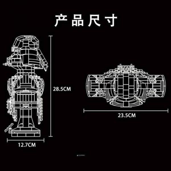 Mould King 21020 Darth Vader Bust Sculpture (2)