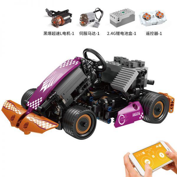 Technician Mouldking 18026 Electric Remote Control App Purple Karting (2)