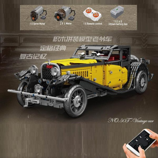 Mould King 13080 Bugatti 50t (8)