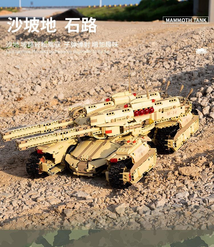MOULD KING 20011 RC Red Alert Mammoth Tank
