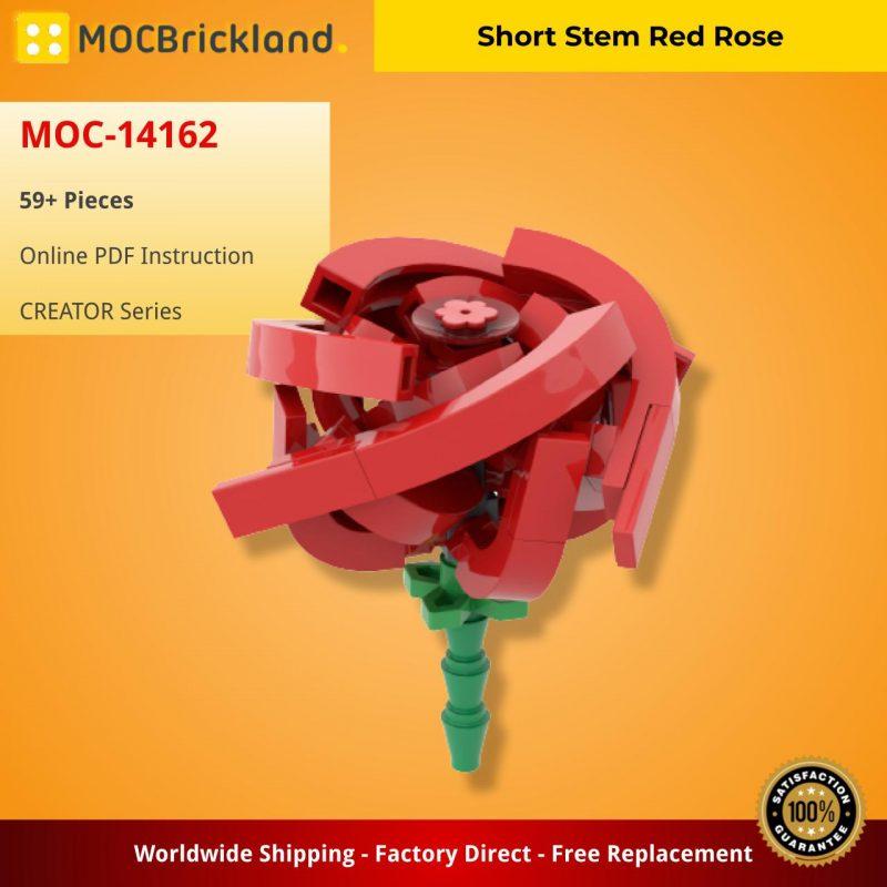MOCBRICKLAND MOC-14162 Short Stem Red Rose