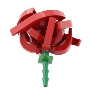Mocbrickland Moc 14162 Short Stem Red Rose (3)