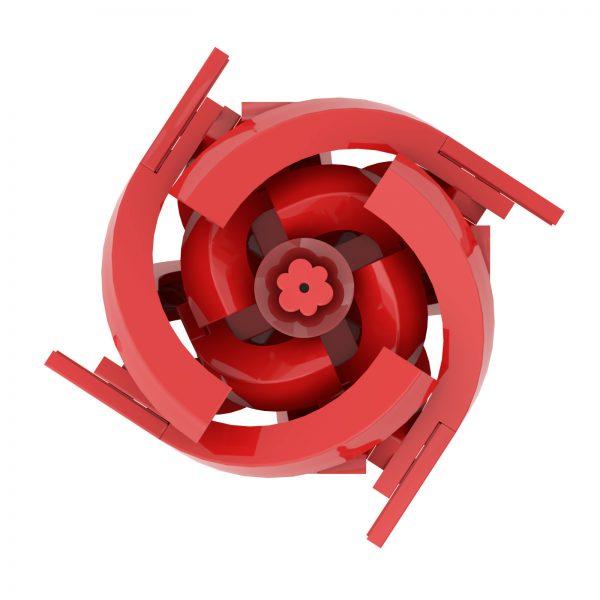 Mocbrickland Moc 14162 Short Stem Red Rose (5)