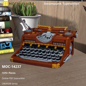 Mocbrickland Moc 14237 Steampunk Typewriter (2)