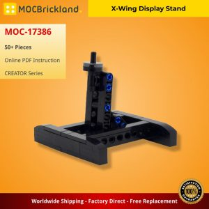 Mocbrickland Moc 17386 X Wing Display Stand (2)