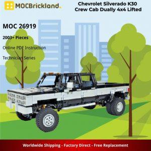 Mocbrickland Moc 26919 Chevrolet Silverado K30 Crew Cab Dually 4x4 Lifted