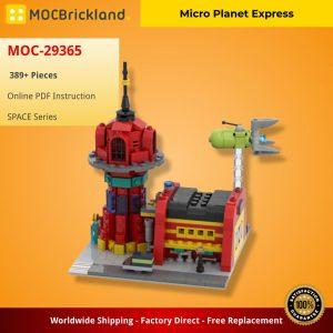 Mocbrickland Moc 29365 Micro Planet Express (2)