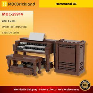 Mocbrickland Moc 29914 Hammond B3 (2)