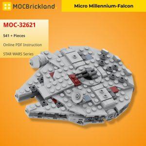 Mocbrickland Moc 32621 Micro Millennium Falcon (2)