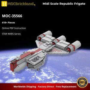 Mocbrickland Moc 35566 Midi Scale Republic Frigate (2)