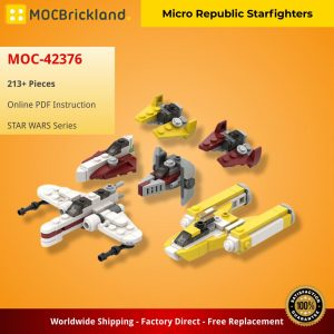 Mocbrickland Moc 42376 Micro Republic Starfighters (2)