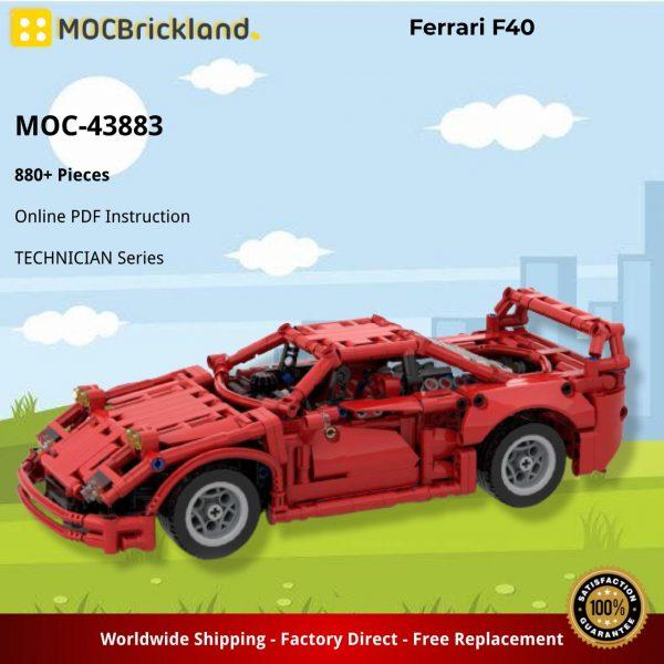 Mocbrickland Moc 43883 Ferrari F40 (2)