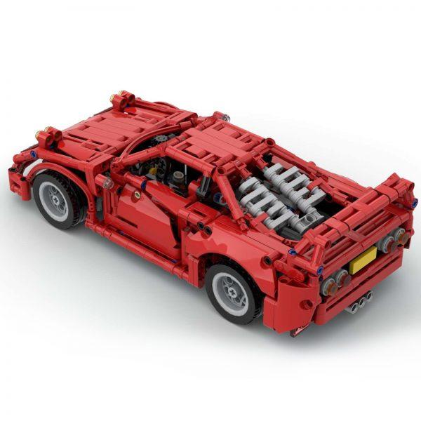 Mocbrickland Moc 43883 Ferrari F40 (6)