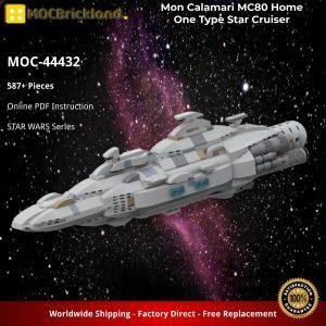 Mocbrickland Moc 44432 Mon Calamari Mc80 Home One Type Star Cruiser (2)