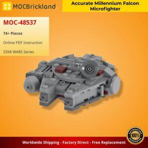 Mocbrickland Moc 48537 Accurate Millennium Falcon Microfighter (2)