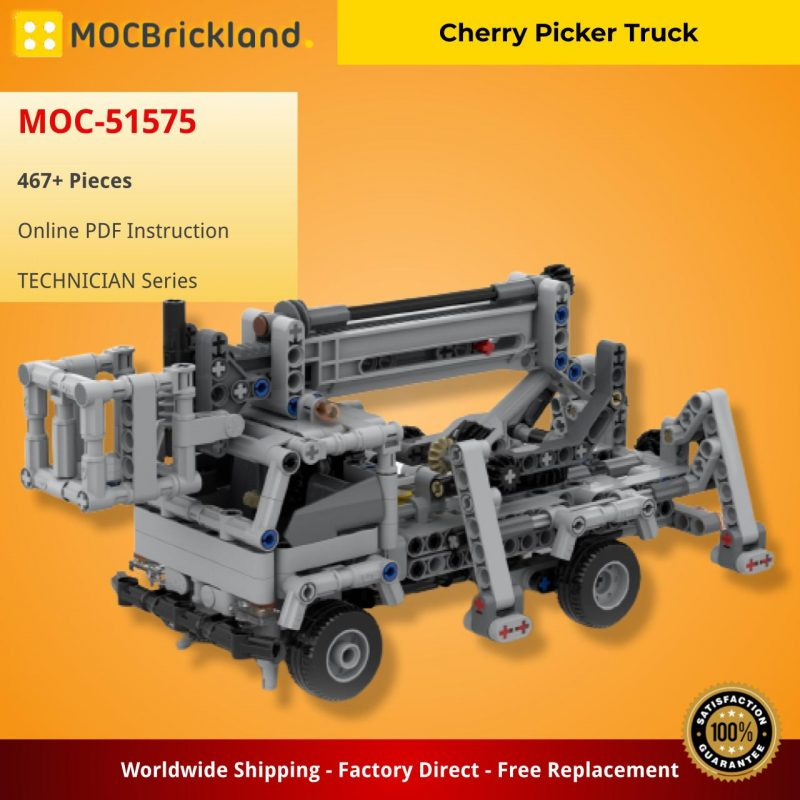 MOCBRICKLAND MOC-51575 Cherry Picker Truck