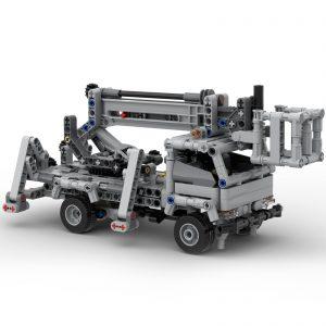 Mocbrickland Moc 51575 Cherry Picker Truck (5)