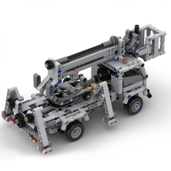 Mocbrickland Moc 51575 Cherry Picker Truck (7)