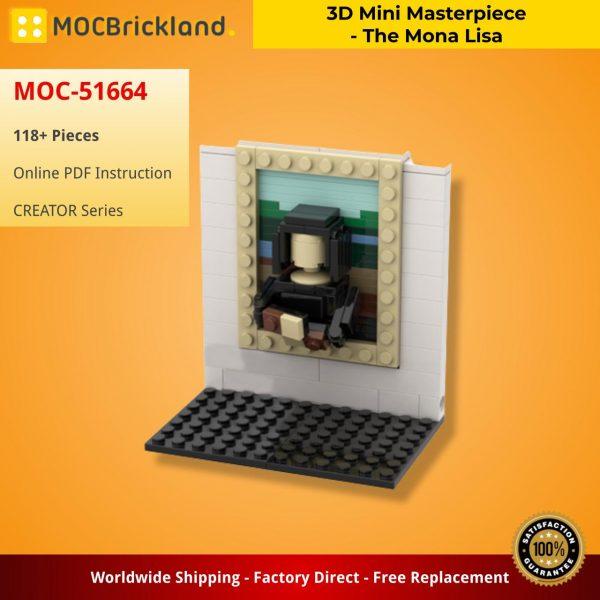 Mocbrickland Moc 51664 3d Mini Masterpiece The Mona Lisa (2)