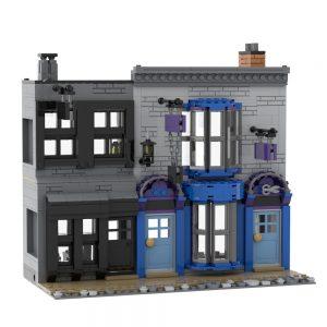 Mocbrickland Moc 53216 Madame Malkins & Potage's Cauldron Shop (diagon Alley) (1)