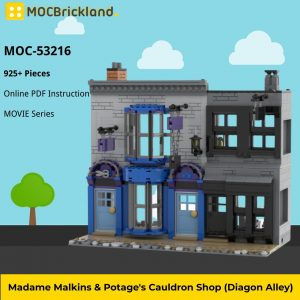 Mocbrickland Moc 53216 Madame Malkins & Potage's Cauldron Shop (diagon Alley) (2)