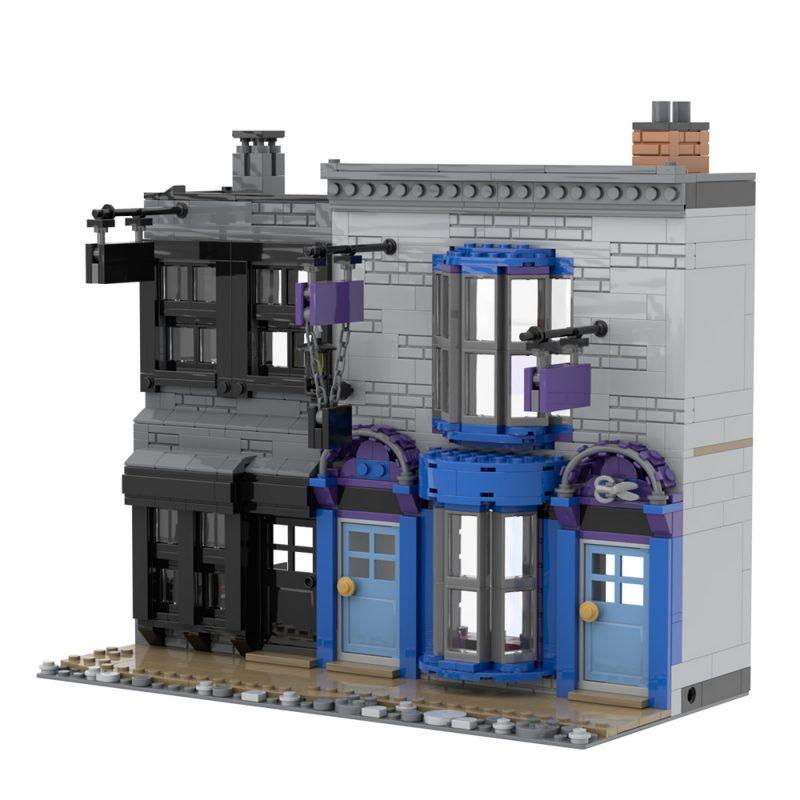 MOCBRICKLAND MOC-53216 Madame Malkins & Potage's Cauldron Shop (Diagon Alley)