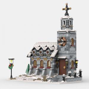 Mocbrickland Moc 58208 Little Winter Church (1)
