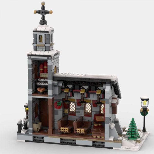Mocbrickland Moc 58208 Little Winter Church (3)