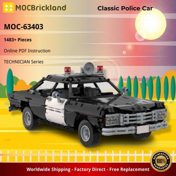 Mocbrickland Moc 63403 Classic Police Car (2)