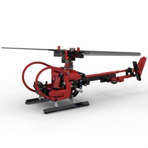 Mocbrickland Moc 68779 Helicopter (1)