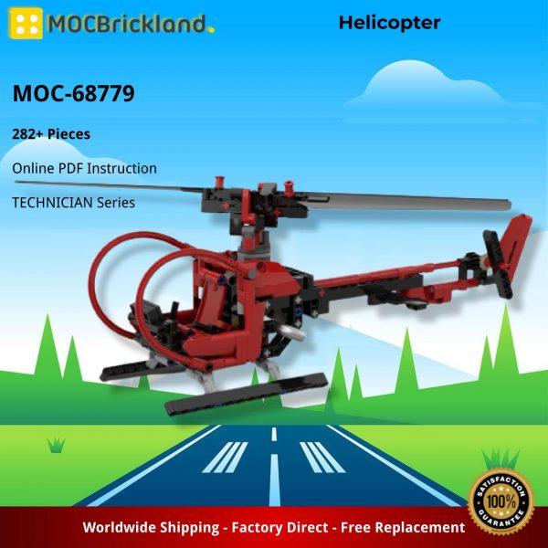 Mocbrickland Moc 68779 Helicopter (2)