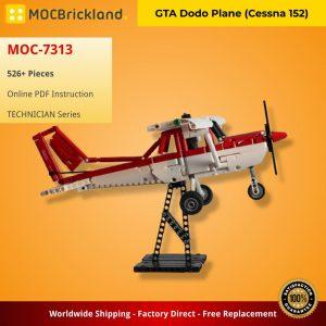 Mocbrickland Moc 7313 Gta Dodo Plane (cessna 152) (2)