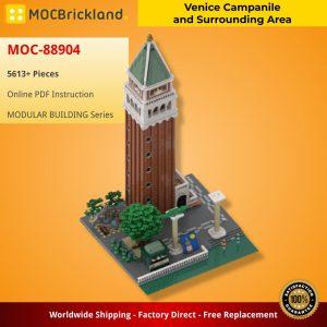 Mocbrickland Moc 88904 Venice Campanile And Surrounding Area (2)